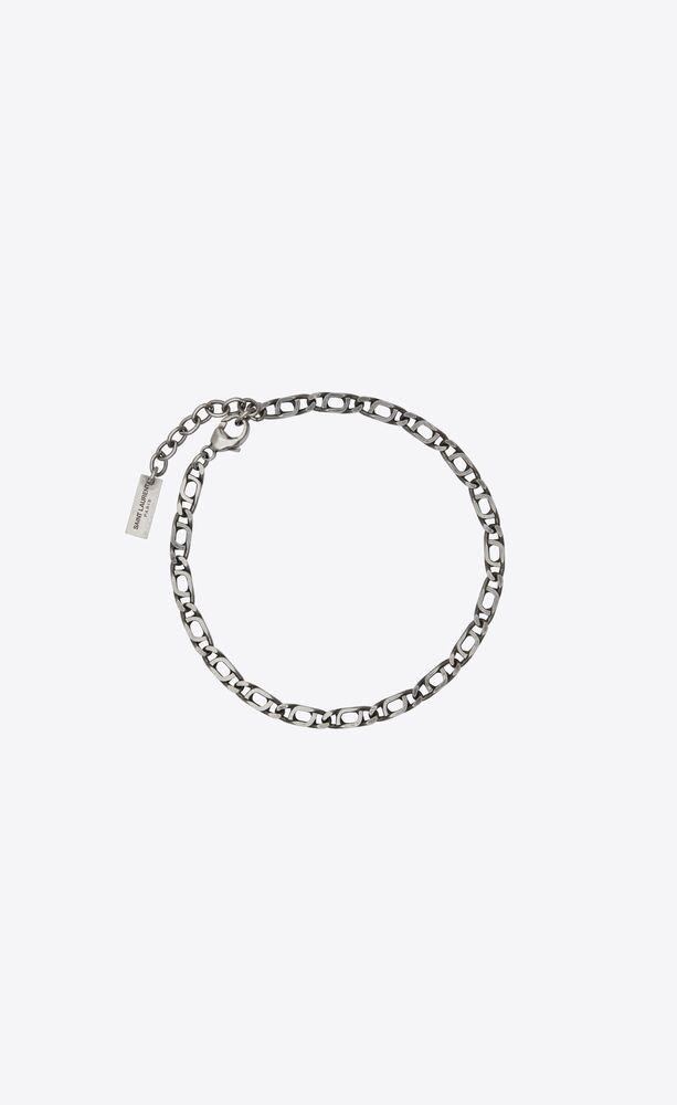 bracelet chaîne figaro en métal