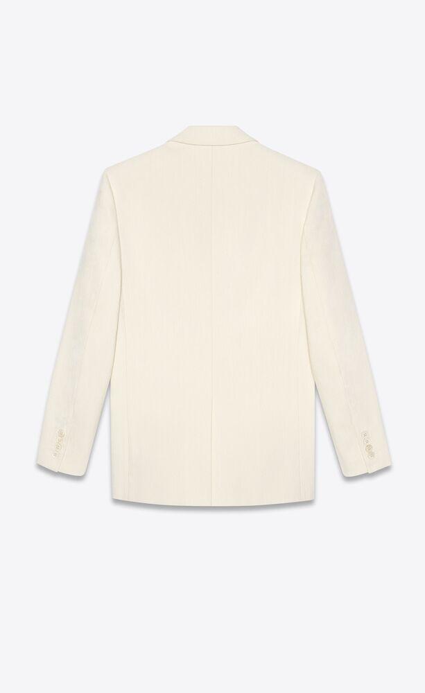 jacket in tussah silk and viscose shantung