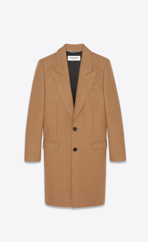 single-breasted overcoat in cashmere