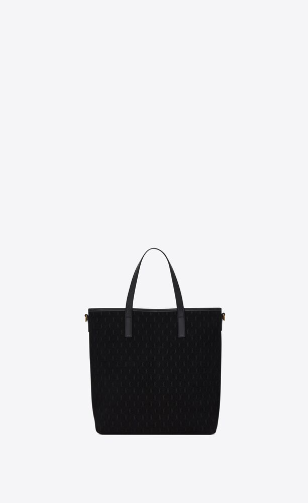 le monogramme saint laurent n/s toy shopping bag in suede and smooth leather