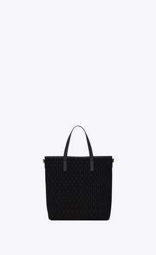 bolso shopper monograma saint laurent all-over north/south toy de ante y piel lisa