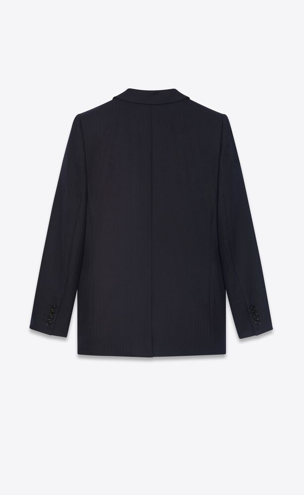 single-breasted jacket in wool twill