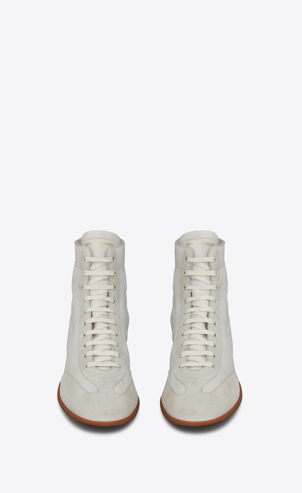 mick sneakers in perforated lambskin and suede