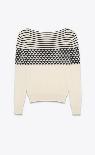 sweater in wool jacquard