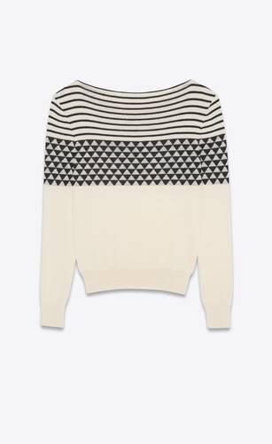 suéter de jacquard de lana