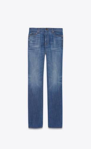 90's highwaist jeans in dark bleach blue denim
