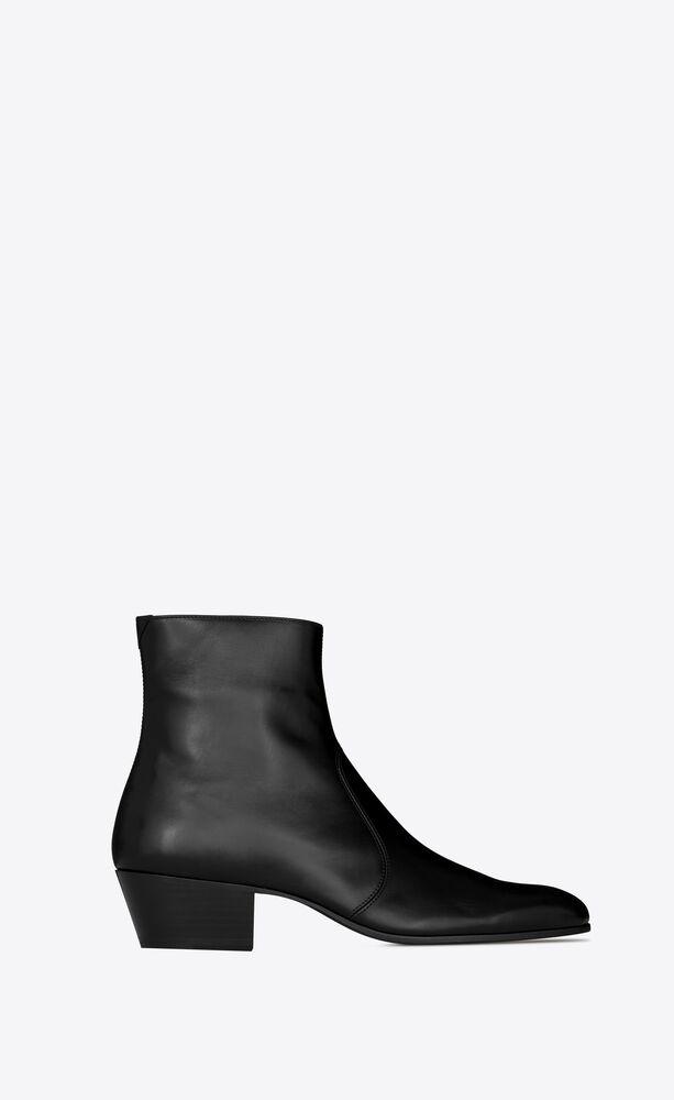 cole stiefel mit reißverschluss aus glattleder
