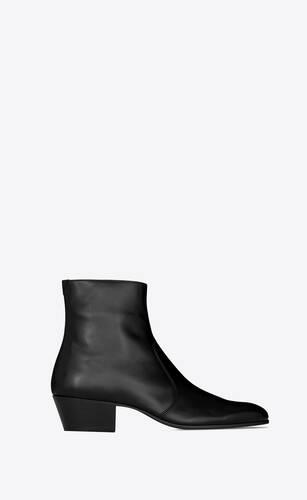 cole boots zippées en cuir lisse