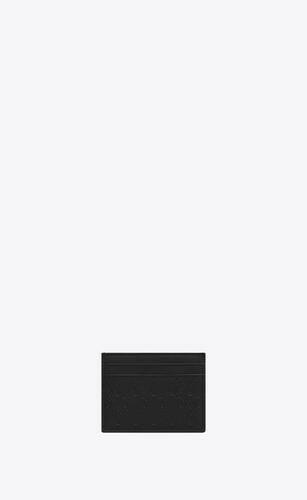 파인애플 프린트 가죽 소재의 모노그램 올오버 카드 홀더