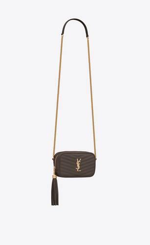 lou mini-tasche aus matelassé-leder mit grain-de-poudre-prägung