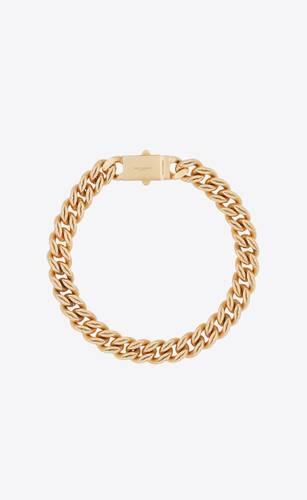 collar de cadena con eslabones de labios de metal
