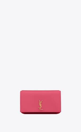 monogram housse de téléphone avec bride en cuir lisse