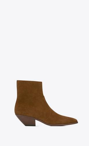 west zipped boots in suede