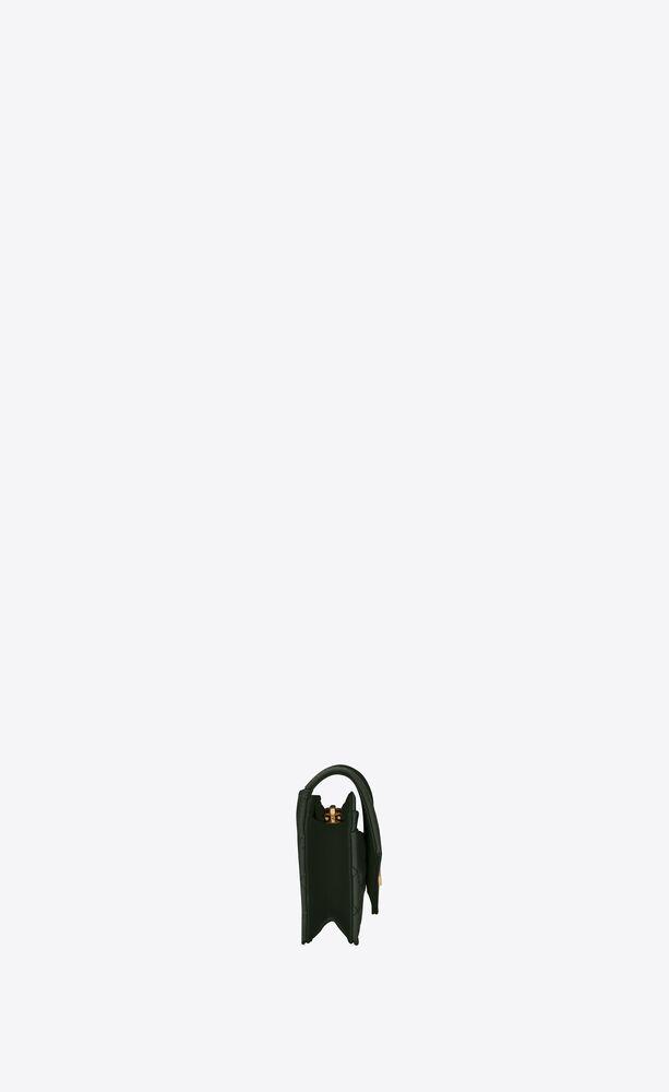 monogram flap card case in mix matelassé grain de poudre embossed leather