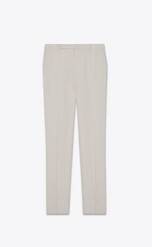 tailored pants in saint laurent grain de poudre