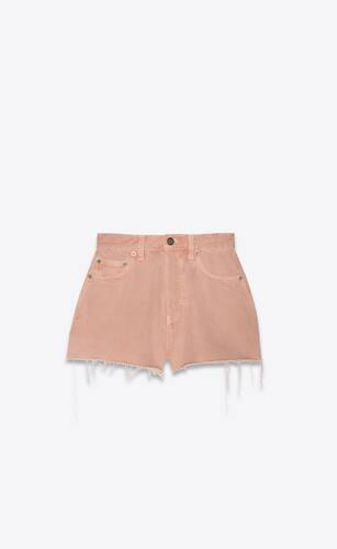 vintage shorts in glowy pink ozone denim