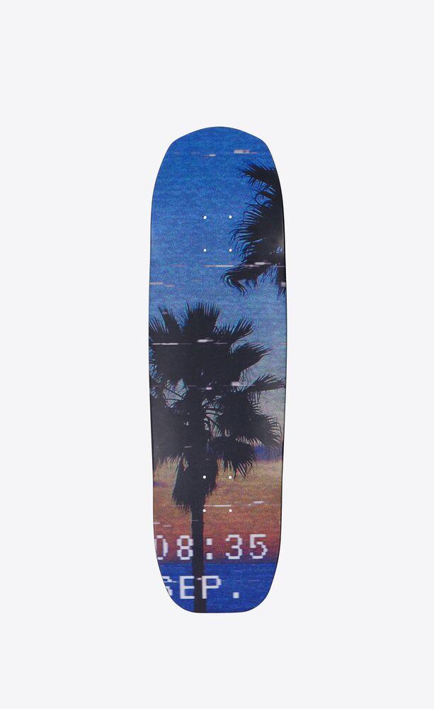 """""""vhs sunset"""" skateboard triptych"""