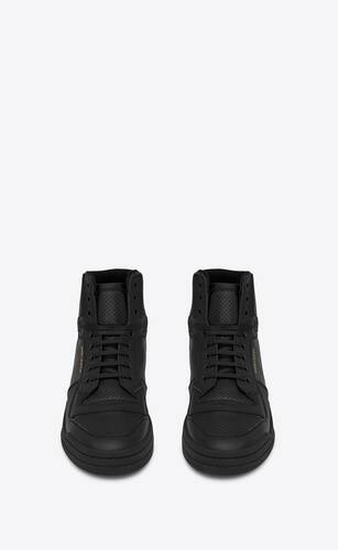 sneakers de media caña sl/24 de piel perforada efecto desgastado