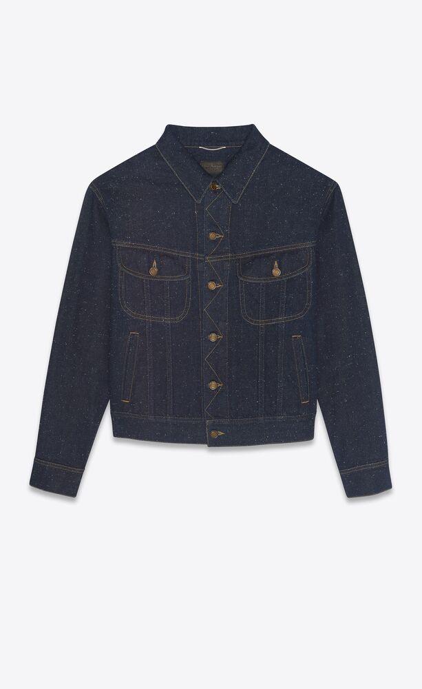 80's jacket in speckled dark stonewash denim