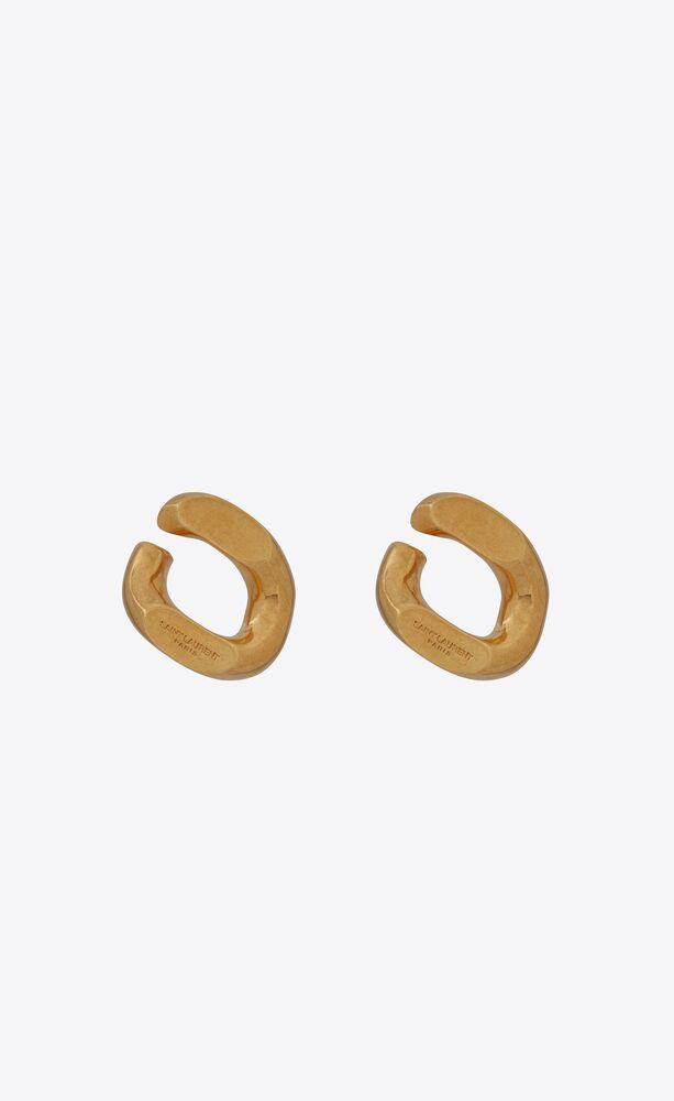 oversized curb chain link earrings in metal