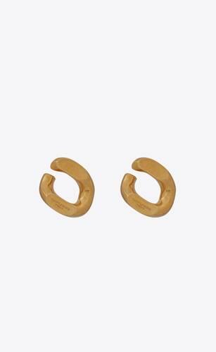 orecchini con catena barbazzale oversize in metallo