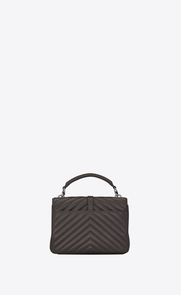 collège medium in quilted matte crinkled leather