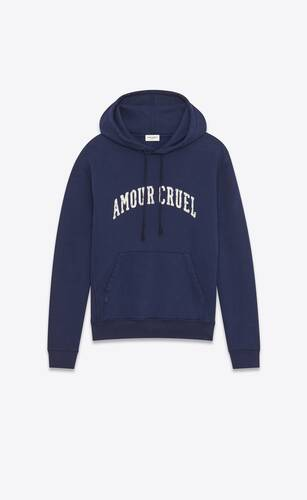 """amour cruel"" hoodie"