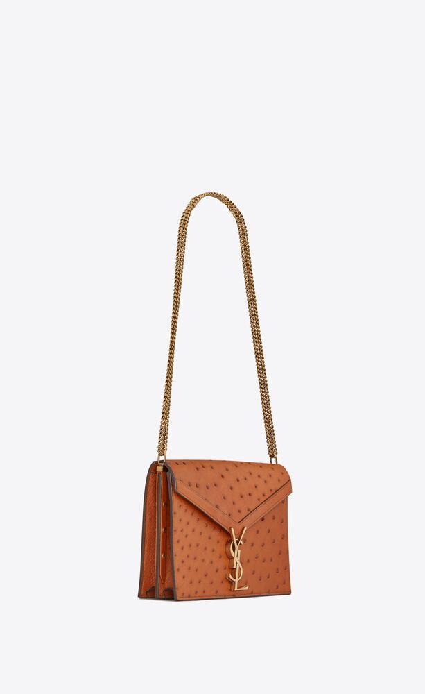 cassandra monogram clasp bag in ostrich