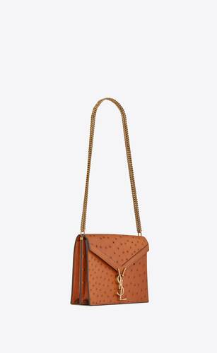 cassandra monogram clasp bag in ostrich