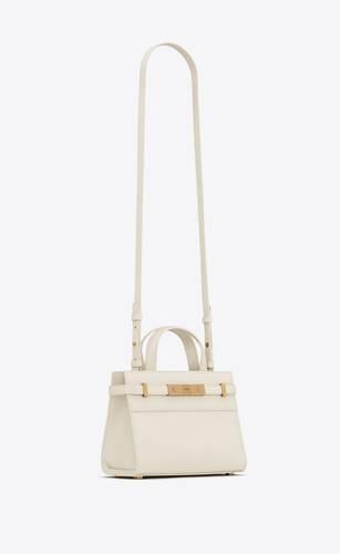 manhattan nano shopping bag in box saint laurent leather