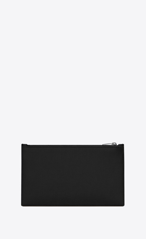 bill pouch in grain de poudre embossed leather