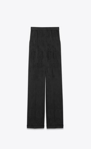 pantalones anchos de jacquard barroco