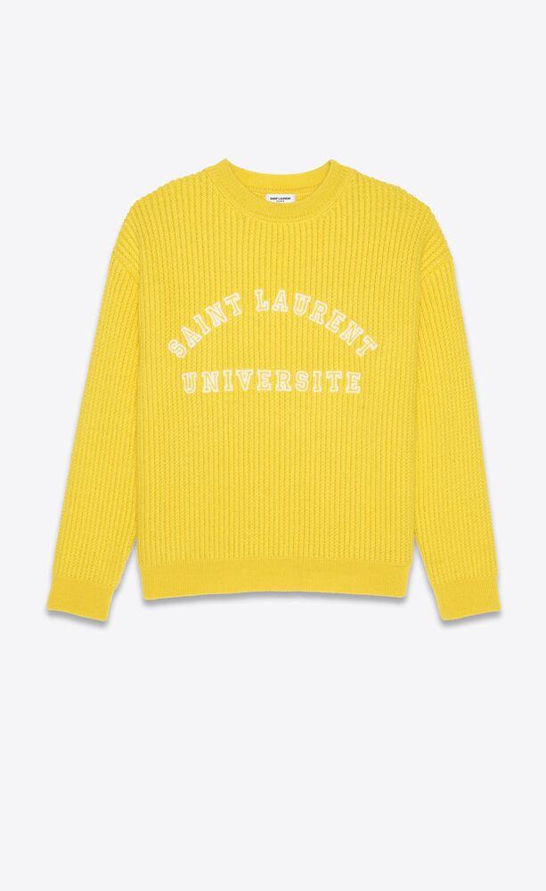 """""""saint laurent université"""" wool sweater"""