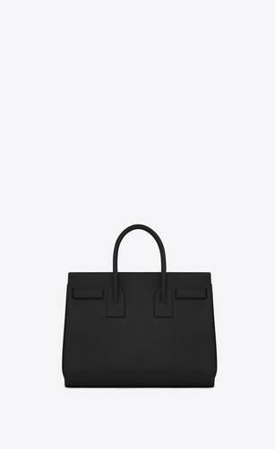 kleine sac de jour aus schwarzem leder