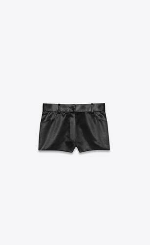 satin mini shorts