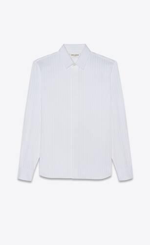 yves collar classic shirt in cotton poplin