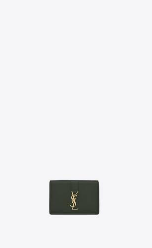 ysl line origami tiny wallet en cuir grainé