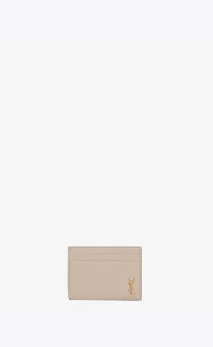 tiny monogram porte-cartes en cuir grainé