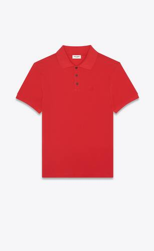 monogram polo shirt in cotton piqué