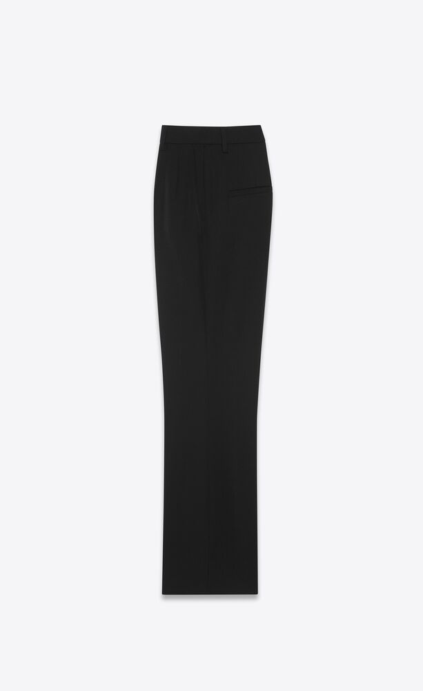 cropped flared pants in grain de poudre saint laurent
