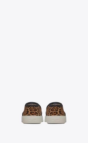 venice slip-on sneakers in leopard-print canvas