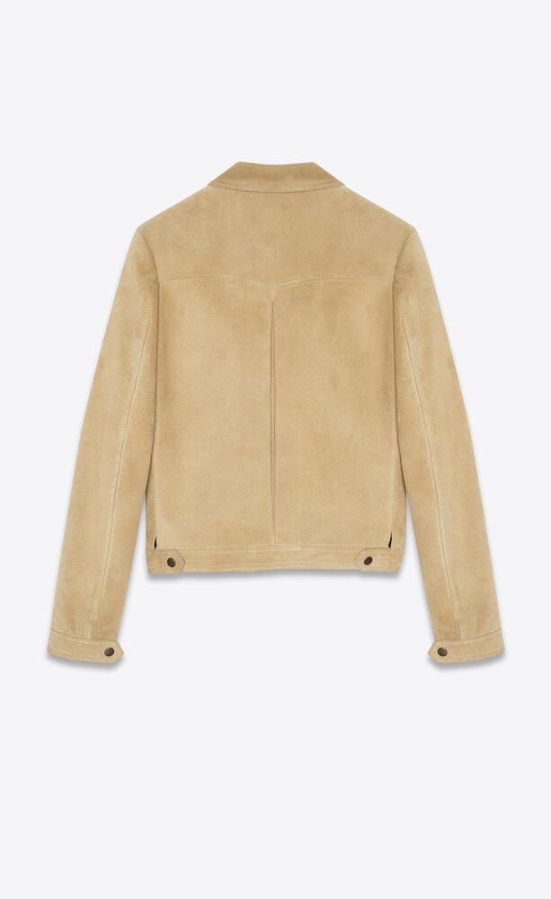 short jacket in suede
