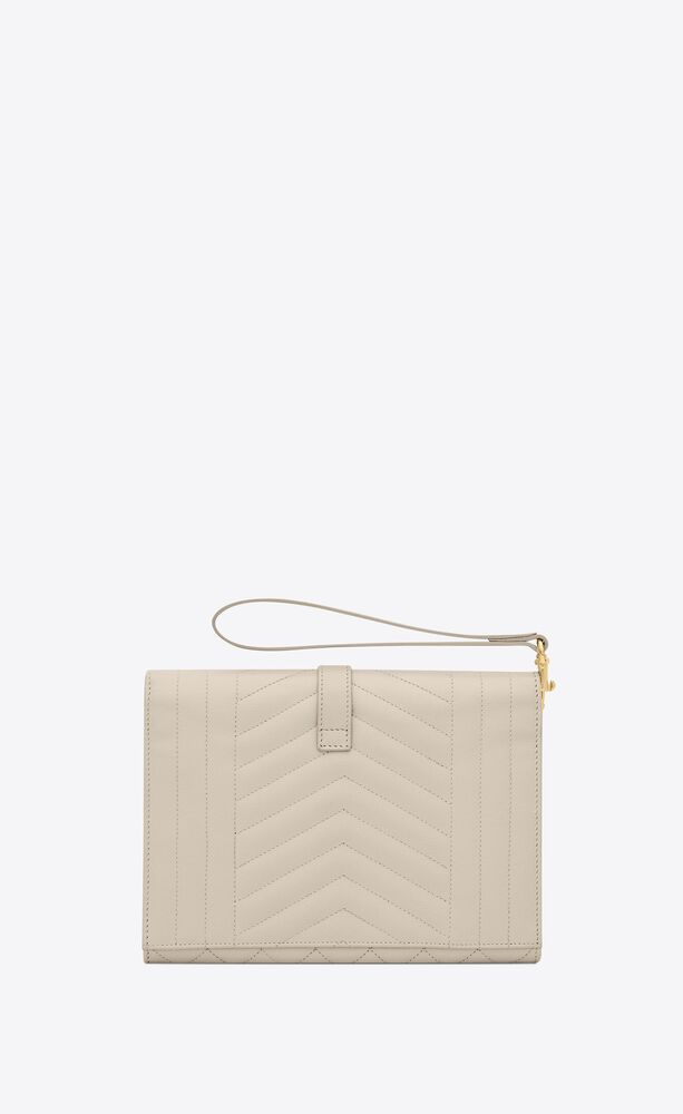 monogram clutch in mix matelassé grain de poudre embossed leather