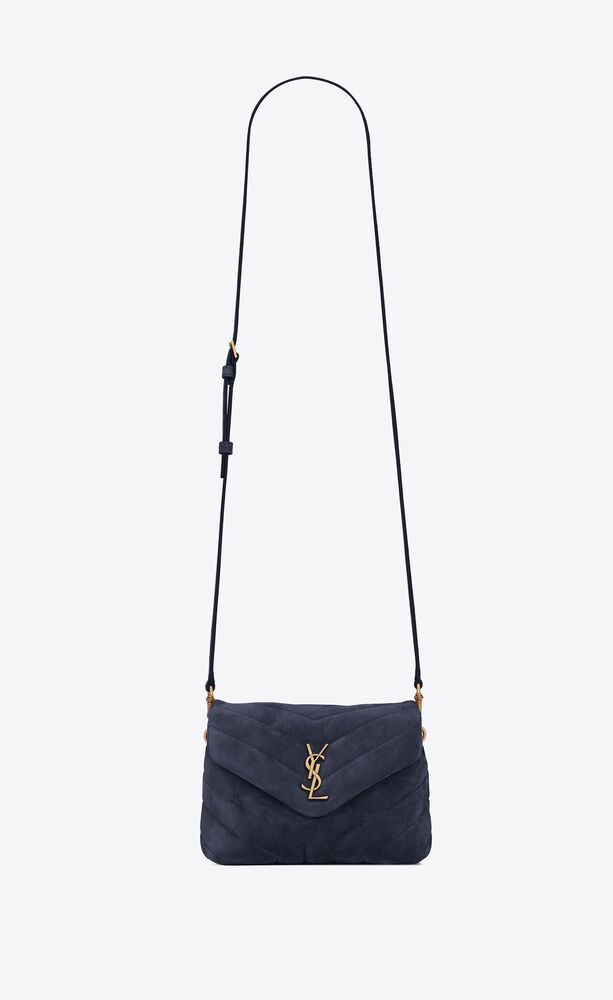 loulou toy bag in y-quilted suede and smooth leather