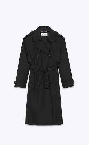 double-breasted trench coat in cotton