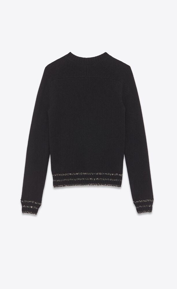 """""""love yves 1975"""" sequin jacquard snake sweater"""