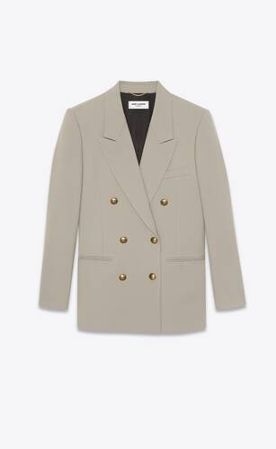 double-breasted jacket in wool gabardine