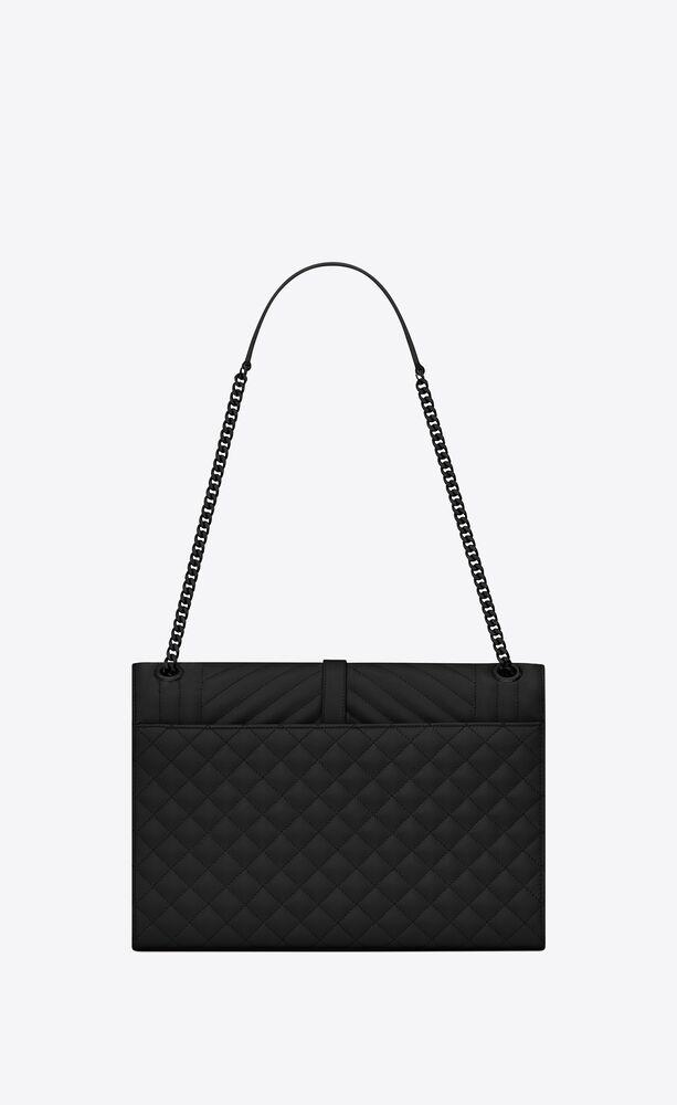 envelope large bag in mix matelassé grain de poudre embossed leather