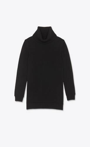 turtleneck knit dress in cashmere saint laurent