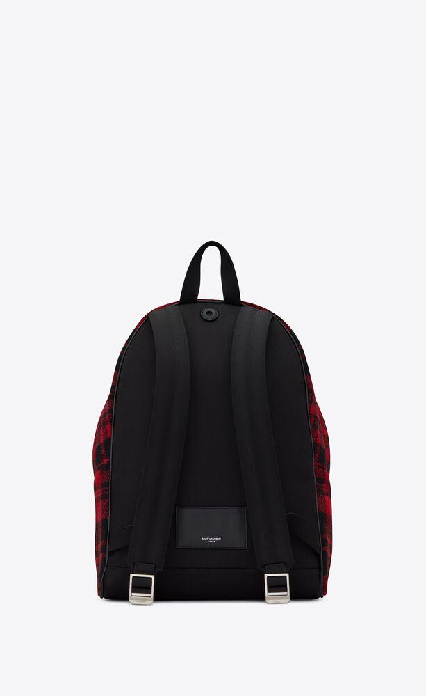city rucksack aus tartan